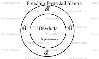 Freedom From Jail Yantra in an Indian Voodoo Spell to free Jailed Person