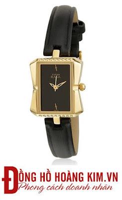 Đồng hồ titan dây da mặt hình chữ nhật quý phái