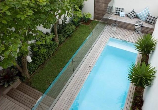 kolam renang model memanjang