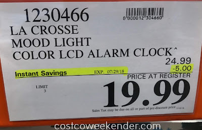 Deal for the La Crosse Mood Light & Nature Sound Alarm Clock at Costco