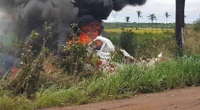 Piloto Morre Carbonizado Após Queda de Avião no Interior do Maranhão