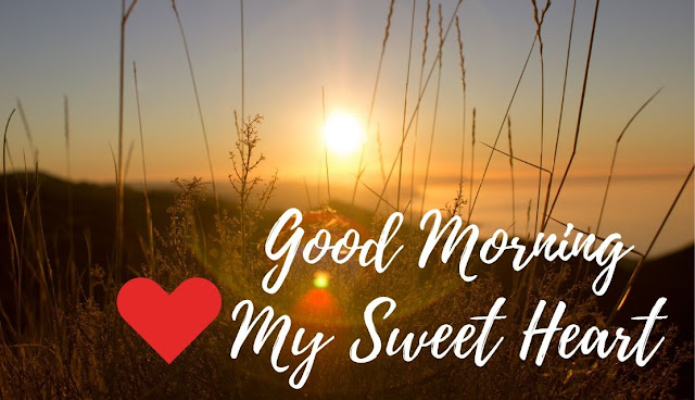 Good Morning love message with Sunrise in Sky
