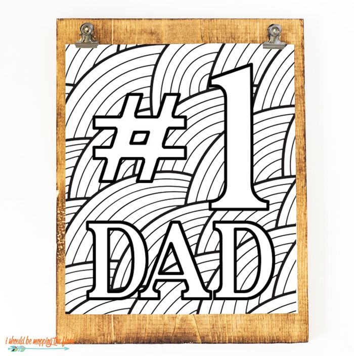 #1 Dad Printable