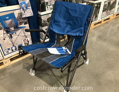 Bring the Timber Ridge High Back Bungee Chair whenever you go camping