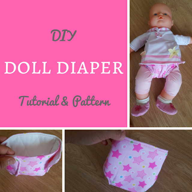 DIY Doll Diaper - tutorial & pattern