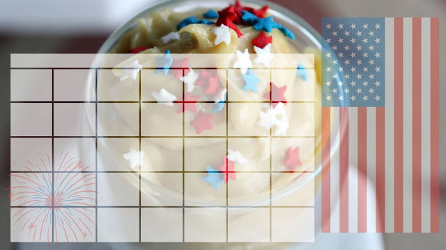 Blank calendar templates - 4th of July (with Recipe!)