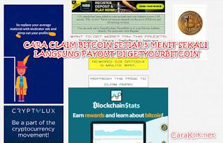 Cara Claim Bitcoin Setiap 5 Menit Langsung Payout Di Getyourbitcoin