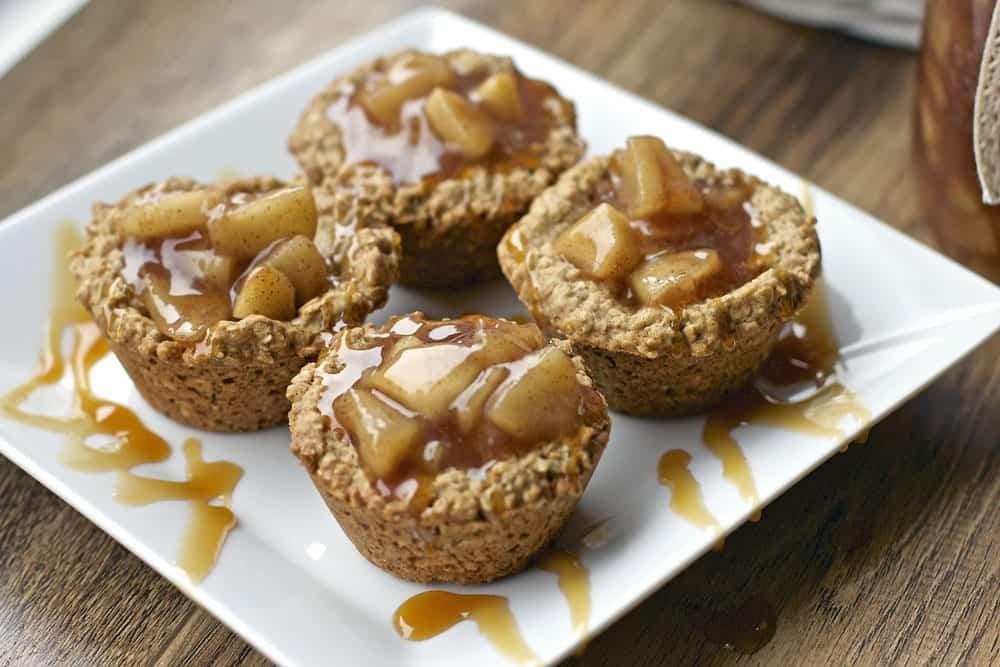 APPLE CRISP COOKIE CUPS #dessert #apple