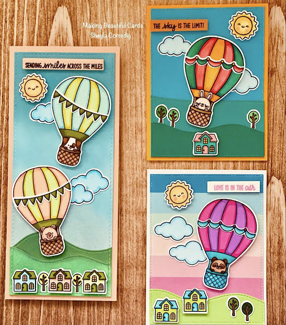 Sunny Studio Stamps: Balloon Rides Customer Card by Sheyla Corredig