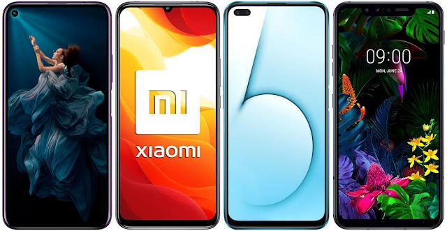 Honor 20 Pro vs Xiaomi Mi 10 Lite 5G vs Realme X50 5G vs LG G8 Smart Green ThinQ