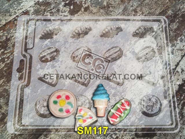 cetakan coklat cokelat SMB117 SM117 mold mould pizza burger hotdog es krim ice cream chocolate #cetakancoklat