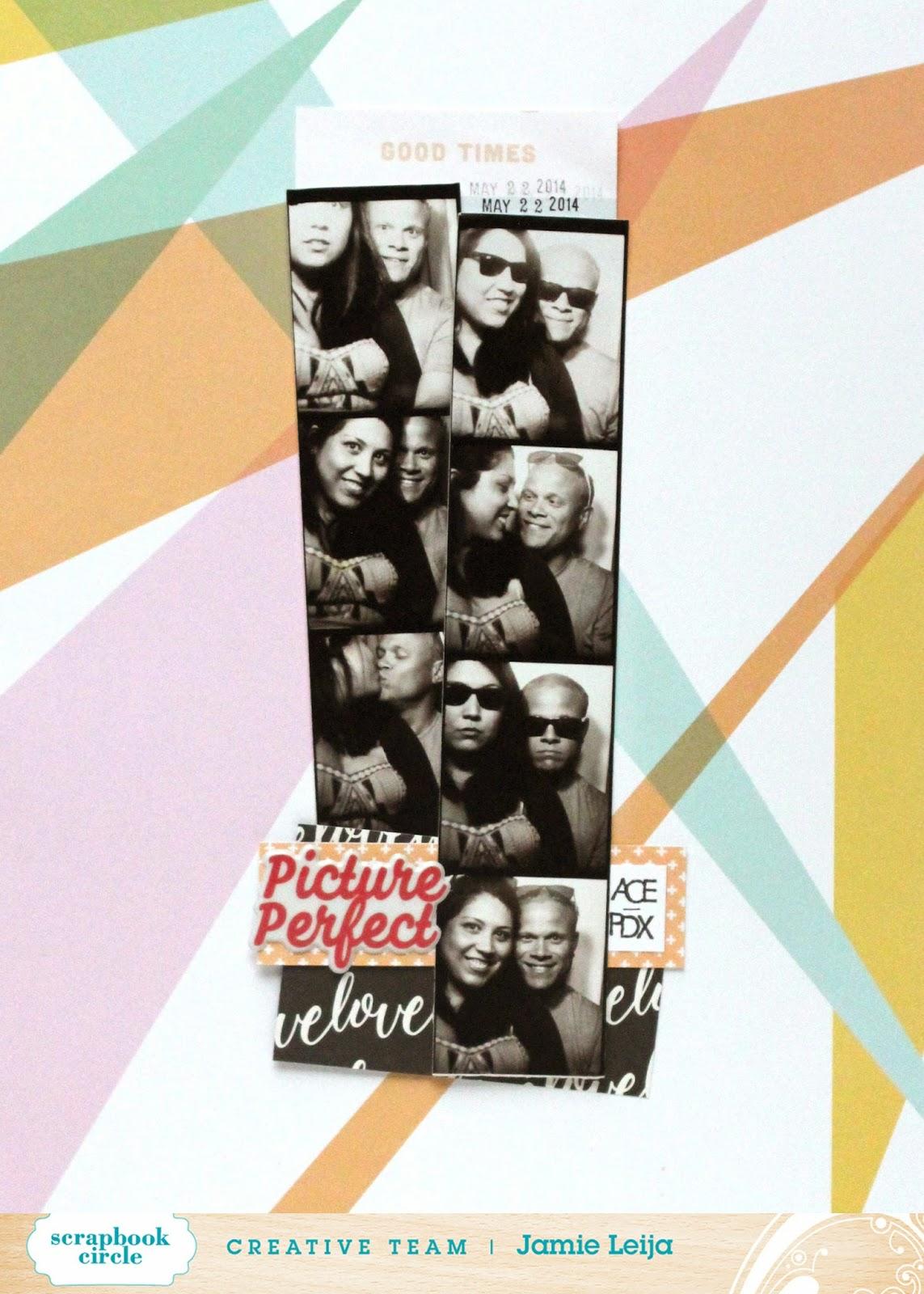 Jamie Leija Neon Birthday Card: Jamie Leija: Here's The Story Layouts