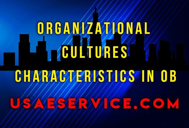 Organizational Culture Characteristics