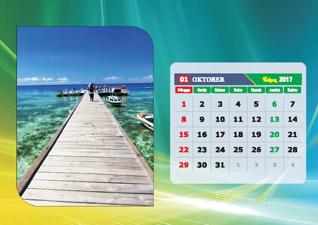 Kalender Bulan Oktober 2017