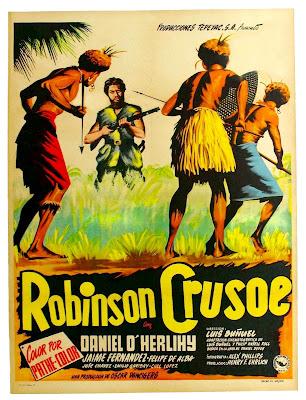 Robinson Crusoe - Luis Buñuel - Poster