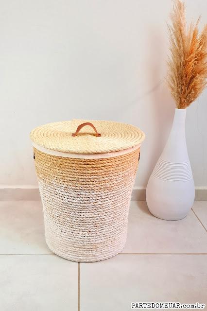 cesto de corda de sisal