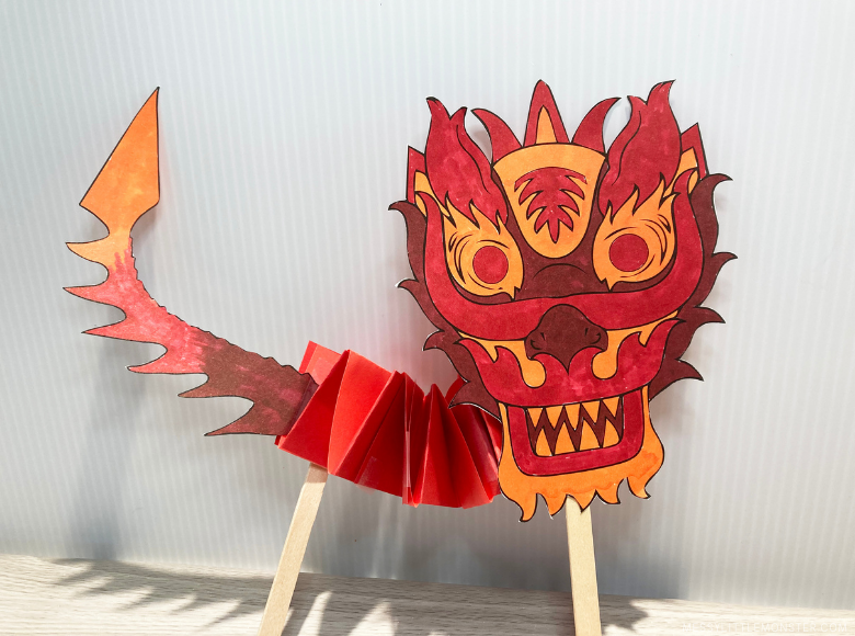 dragon puppet craft for kids