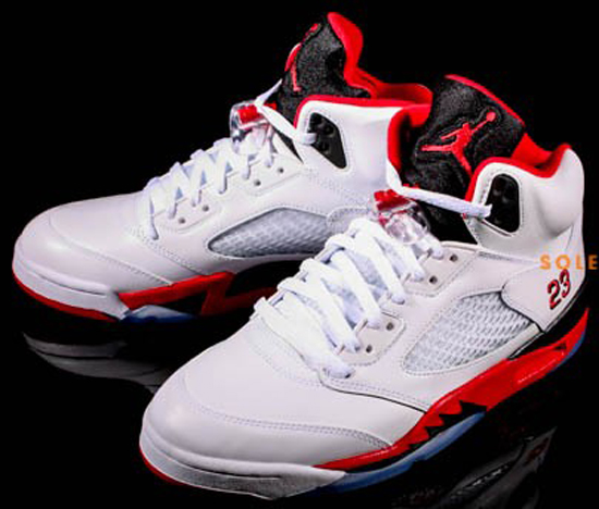 the best attitude ee690 48aa3 Air Jordan 5 Retro White Fire Red-Black August 2013