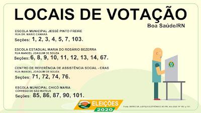 Conheça os locais de votação