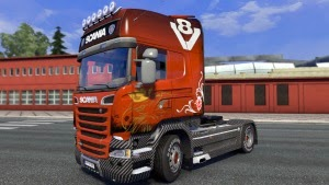 Carbon V8 skin for Scania Streamline