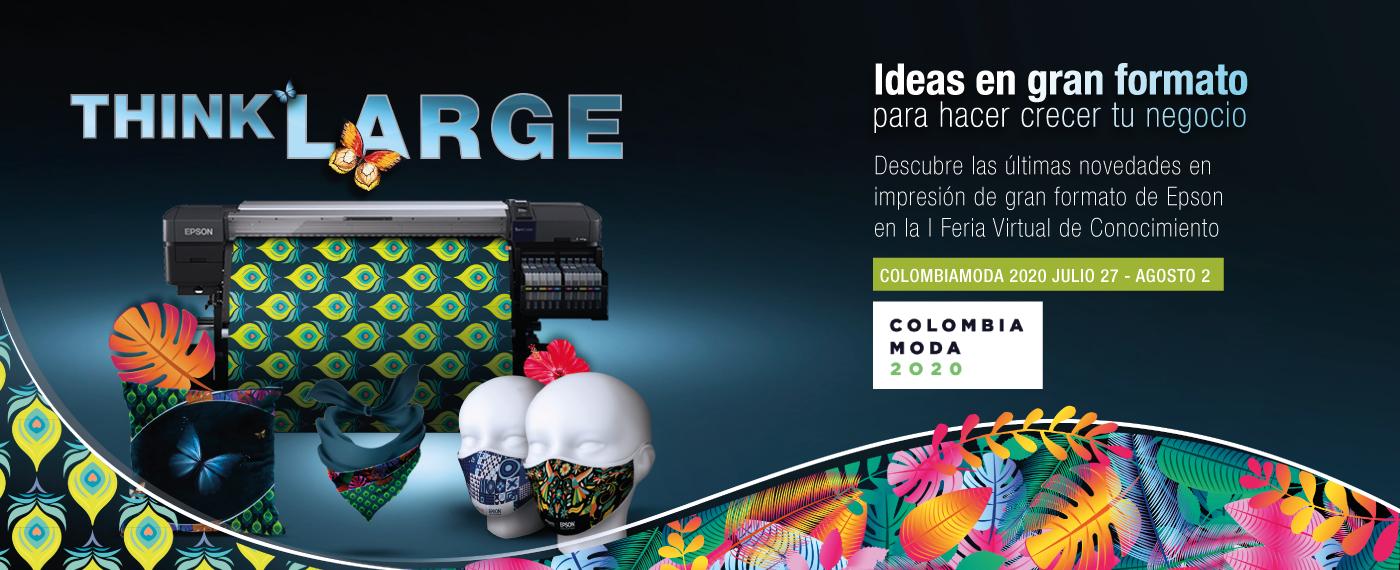Tecnología aplicada a la evolución digital de la industria textil, la apuesta de Epson en Colombiamoda 2020