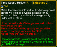 naruto castle defense 6.0 Space-Time Hollow detail