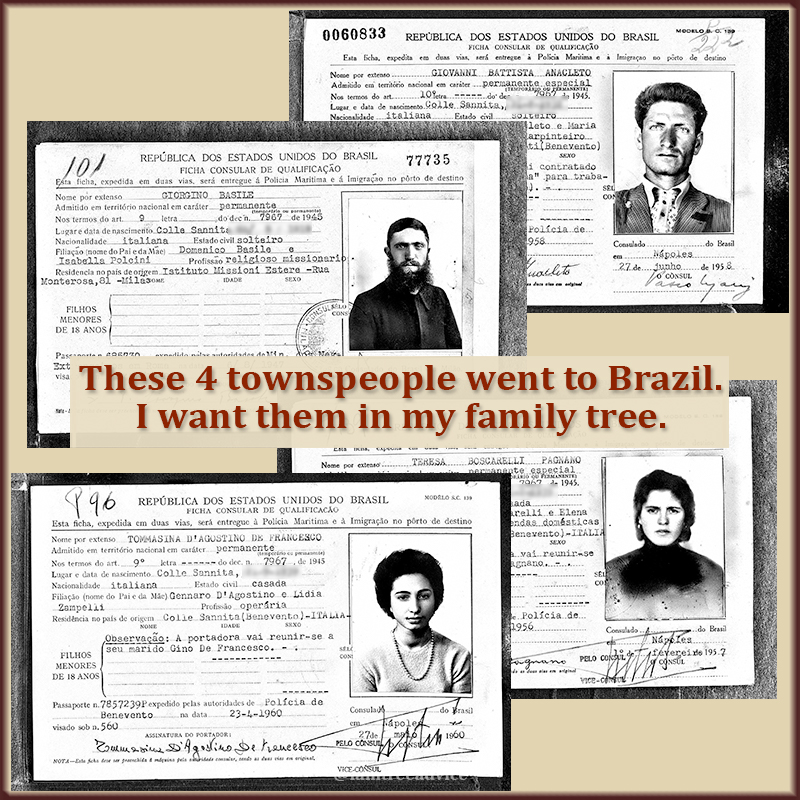 These immigration cards from Brazil can open up some dead ends in my family tree.