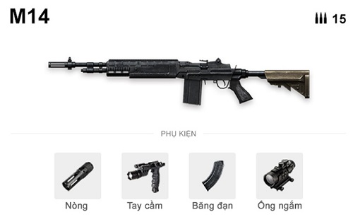 M14 rất có thể đóng thế súng bắn tỉa nếu được trang bị ống ngắm phóng đại lớn