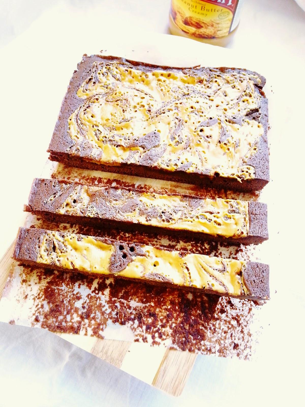Resepi Brownies Bersama Mentega Kacang Sedap Rupanya