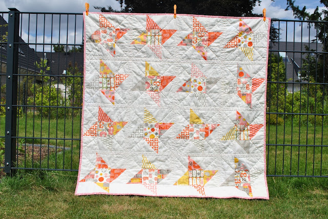 stars quilt HST Moda Twenty Three charms