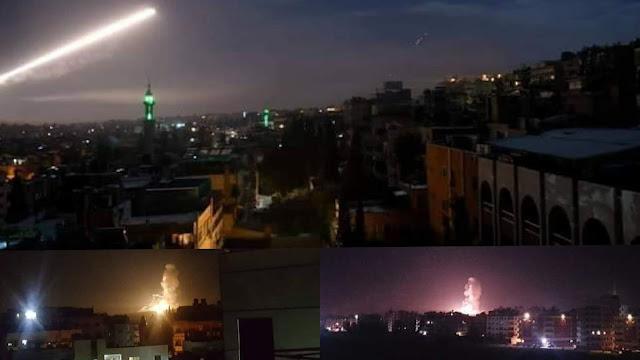 سوريا .. غارات اسرائيلية عنيفة تستهدف دمشق ومحيطها