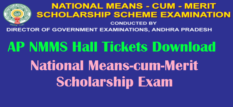 AP NMMS Hall Tickets 2019 Download   Andhra Pradesh National