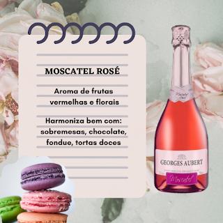 Harmonização - Moscatel Rosé