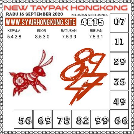 New Taypak Hongkong Rabu 16 September 2020