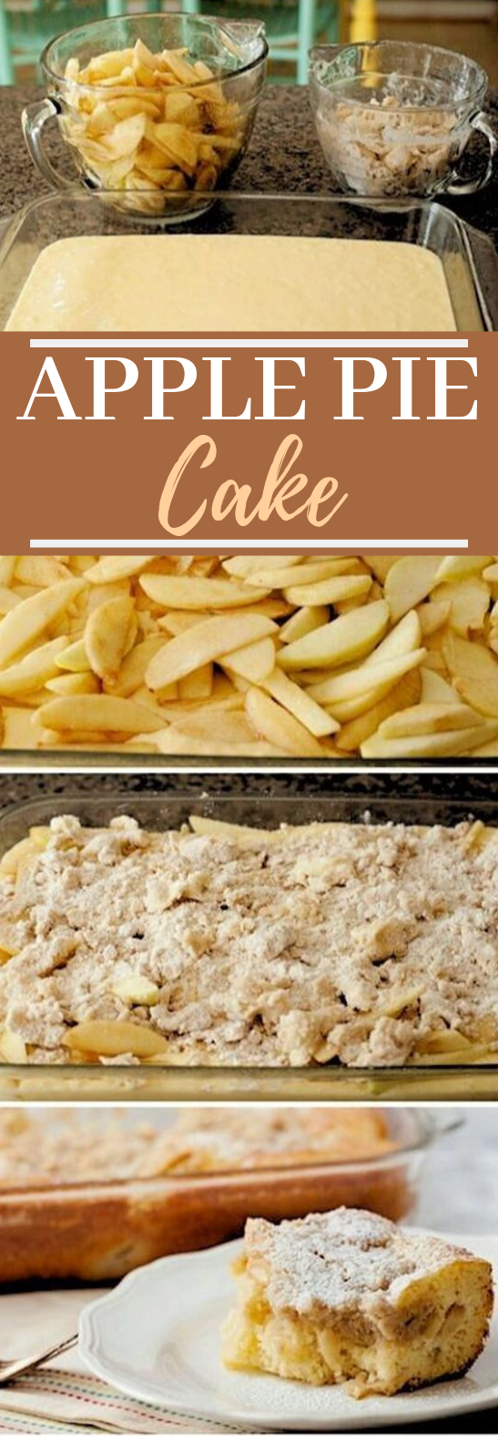 Apple Pie Cake #cake #desserts