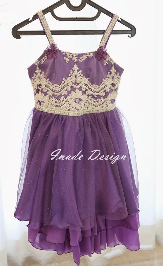 INADE DESIGN: Lavender Little Love | Dress brokat satin ...