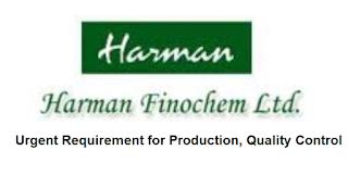 Harman Finochem Ltd Pharma Company Recruitment For ITI, Diploma and Graduate Candidates | Walk In Interview