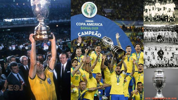 Brasil jamais perdeu uma edição da Copa América quando foi a sede única do torneio