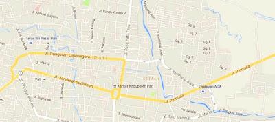 peta kawasan tertib lalu lintas di pati