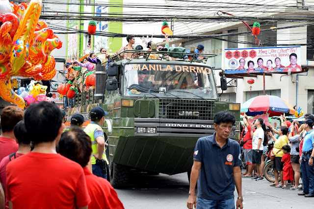 Rescue truck goes on parade