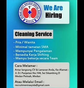 Cleaning Service di RS Khusus Ginjal Rasyida