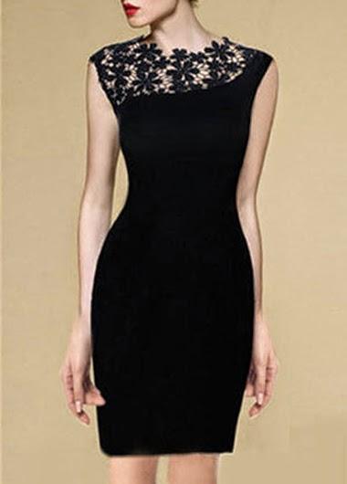 3cd33043bf Escote Mangas Y Elegante Encaje Con Sin Vestido Corto En ttOw8