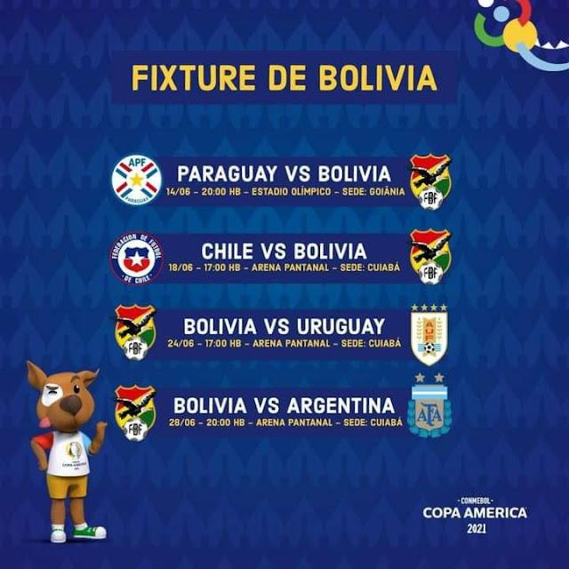 Fixture de Bolivia