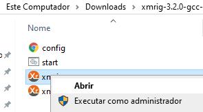 Execute o Xmrig como Admin Téchne Digitus InfoSec