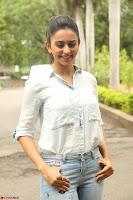 Rakul Preet Singh in Jeans and White Shirt At Jaya Janaki Nayaka le Logo Launch ~  Exclusive 072.JPG