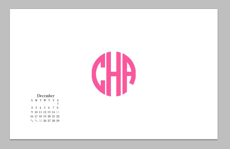 DIY Monogram Desktop Wallpaper - Carly the Prepster