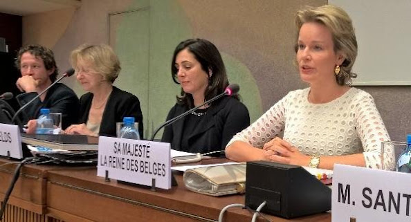 Queen Mathilde of Belgium attended a meeting on 'Integration of gender perspective' of the Human Rights Council