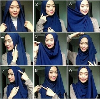 Tutorial Hijab Pashmina Sifon Terbaru