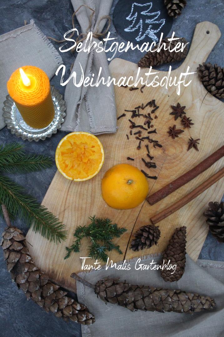 Raumduft für Weihnachten Orangen Zapfen Gewürze
