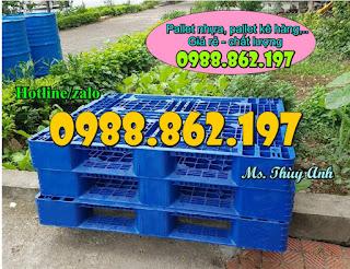 Cty sản xuất pallet nhựa cũ, mua palet nhua cu o dau, palelt o dau gia re, pallet nhua cu gia re, p